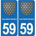59 Lieu-Saint-Amand blason autocollant plaque stickers ville