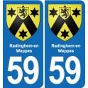 59 Radinghem-en-Weppes blason autocollant plaque stickers ville