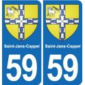 59 Saint-Jans-Cappel coat of arms sticker plate stickers city