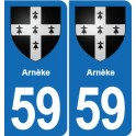 59 Arnèke blason autocollant plaque stickers ville