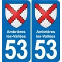 53 Mayenne blason autocollant plaque stickers ville