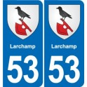 53 Larchamp coat of arms sticker plate stickers city