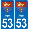 53 Meslay-du-Maine blason autocollant plaque stickers ville