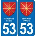 53 Saint-Denis-d'anjou coat-of-arms sticker plate stickers city