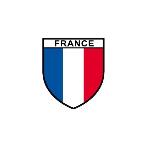 Autocollant drapeau france sticker adhesif fran ais opex for Autocollant mural francais