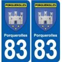 83 Porquerolles autocollant plaque immatriculation ville sticker auto