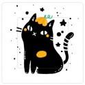Chat noir sticker autocollant interrupteur