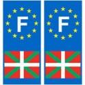 F EH Basque autocollant plaque