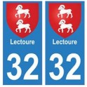 32 Lectoure autocollant plaque blason armoiries stickers département