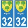 32 Vic-Fezensac autocollant plaque blason armoiries stickers département