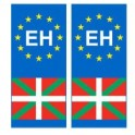 Basque EH europe sticker plate