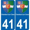 41 Chambon-sur-Cisse autocollant plaque immatriculation ville sticker auto