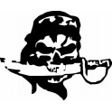 Sticker head death skull wall sticker Pirate