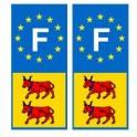 Béarn F europe autocollant plaque