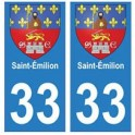 33 Saint-Émilion autocollant plaque blason armoiries stickers département