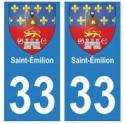 33 Saint-Émilion autocollant plaque blason armoiries stickers département