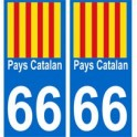 66 Catalan Country sticker plate