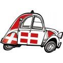 2 CV voitue Savoie autocollant sticker adhesif