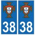 38 Isère FPF blason autocollant plaque logo