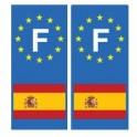 Espagne F autocollant plaque