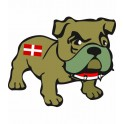 Bulldog chien région Savoie autocollant sticker adhesif
