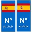 Espagne numéro choix autocollant plaque