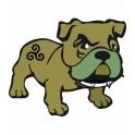 Bulldog région Bretagne Breizh 2 autocollant sticker adhesif