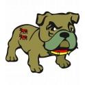 Bulldog Béarn sticker sticker adhesive