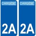 2A Ajaccio logo autocollant plaque stickers ville