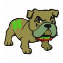Bulldog basque 2 autocollant sticker adhesif