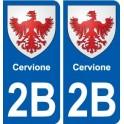 2B Calenzana blason autocollant plaque stickers ville