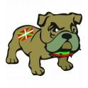 Bulldog Basque autocollant sticker adhesif