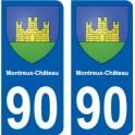 90 Montreux-Château blason autocollant plaque stickers ville