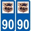 90 Delle logo sticker plate stickers city