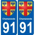 91 Igny coat of arms sticker plate stickers city