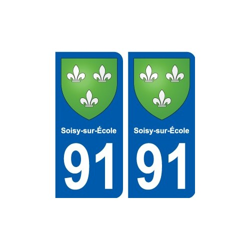 91 Igny blason autocollant plaque stickers ville