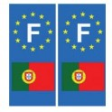 Portugal drapeau autocollant plaque