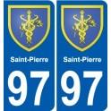 97 Saint-Pierre blason autocollant plaque stickers ville