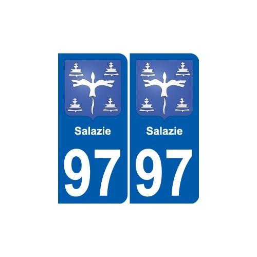 97 Saint-Barthélemy blason autocollant plaque stickers ville