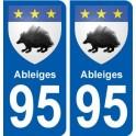 94 Créteil logotipo de la calcomanía de la placa etiqueta de registro de la ciudad