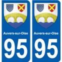 95 Auvers-sur-Oise blason autocollant plaque stickers ville
