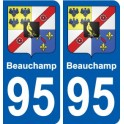 95 Viarmes coat of arms sticker plate stickers city
