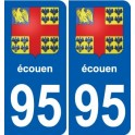 95 Viarmes stemma adesivo piastra adesivi città