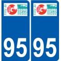 95 Gonesse logo autocollant sticker plaque immatriculation ville