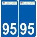 95 L'Isle-Adam logo autocollant sticker plaque immatriculation ville