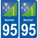 95 Nointel blason autocollant plaque stickers ville