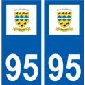 95 Nointel logo autocollant sticker plaque immatriculation ville
