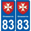 83 Cogolin blason autocollant plaque stickers ville