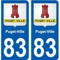 83 Puget-Ville blason autocollant plaque stickers ville
