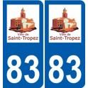83 Saint-Tropez logo autocollant plaque stickers ville